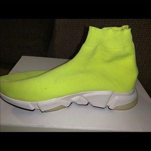 Balenciaga Shoes - Balenciaga Speed neon yellow mid trainer size 9